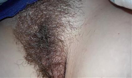 Wifes Hairy Pussy at Rest