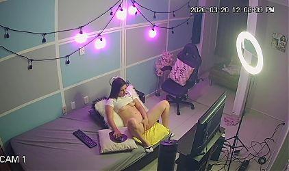 Webcam girl working